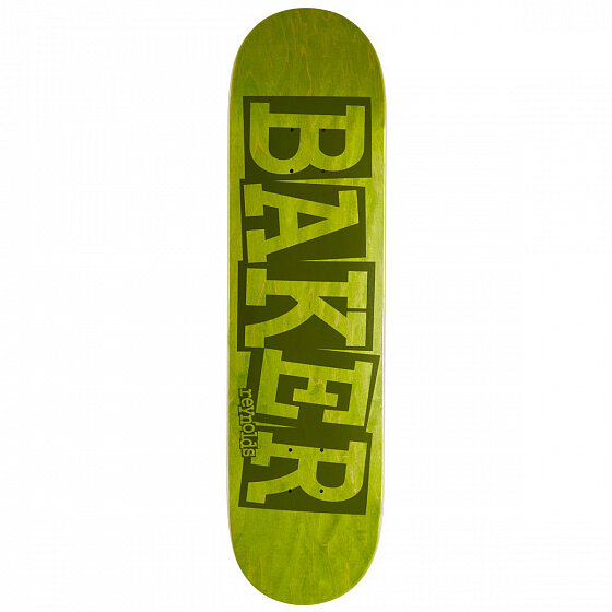 Дека для скейтборда BAKER Ar Ribbon Name Grn Deck 8.125 дюйм