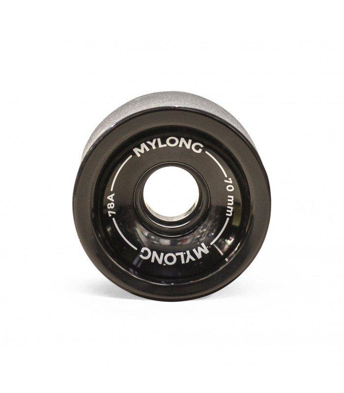 Колеса для лонгборда MYLONG 70x51 Черные С Лого 70 mm, Китай  - купить со скидкой
