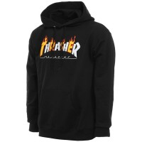 Толстовка THRASHER Flame Mag Hood BLACK
