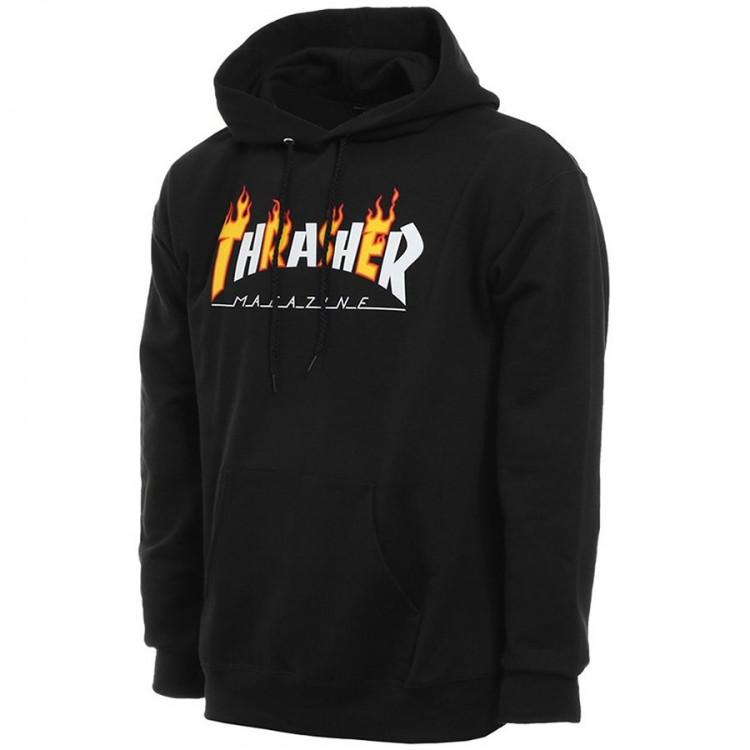 Купить Толстовка THRASHER Flame Mag Hood BLACK