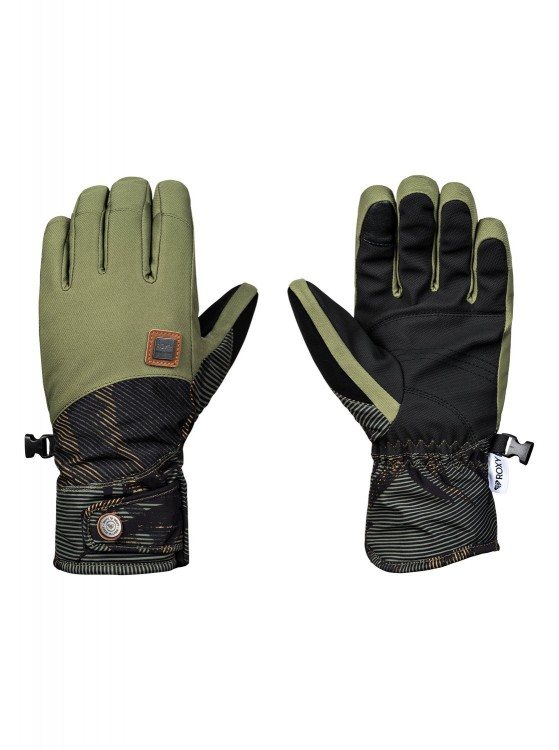 Перчатки ROXY Vermont Gloves J Four Leaf Clover_Swell Flowers, фото 1