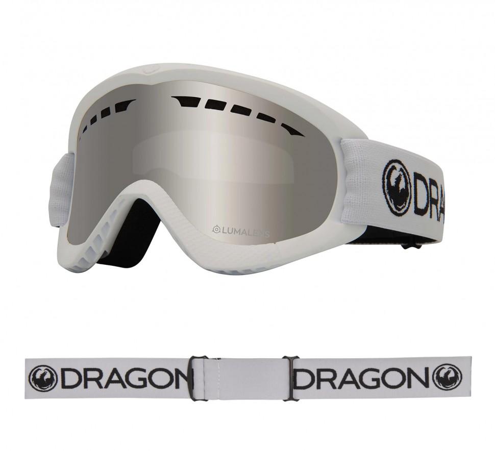 Маска горнолыжная DRAGON Dxs White/Ll Silver Ion фото