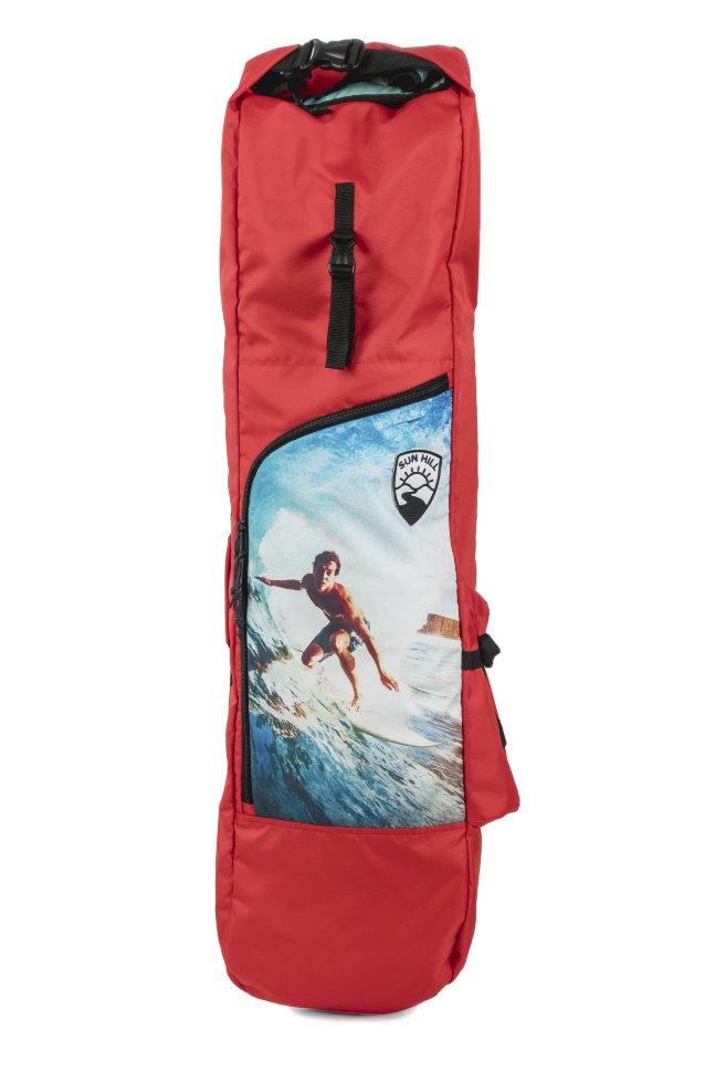 Чехол для лонгборда SUNHILL Long Pack Red/Surfer Print 2000000256405