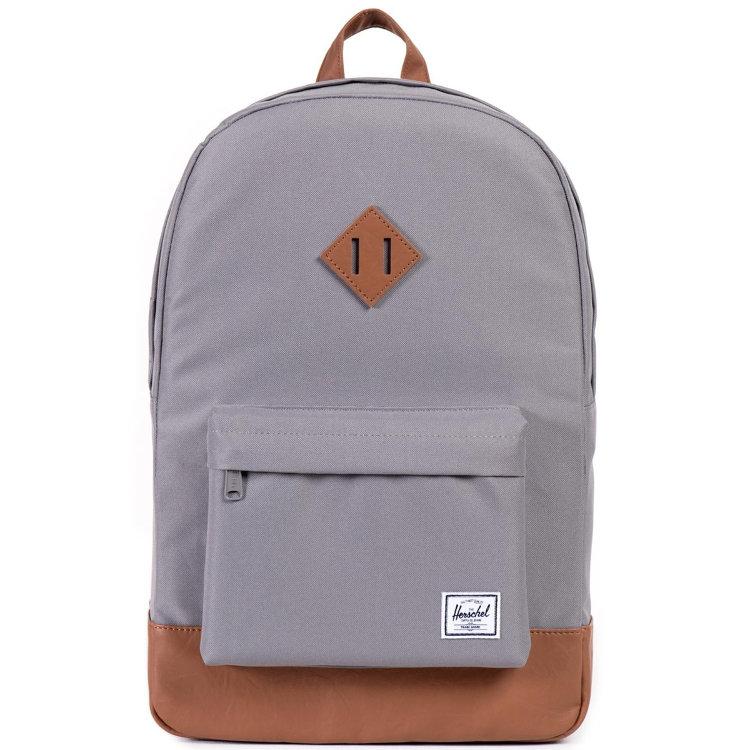 Купить Рюкзак HERSCHEL Heritage A/S Grey/Tan Synthetic Leather, Китай