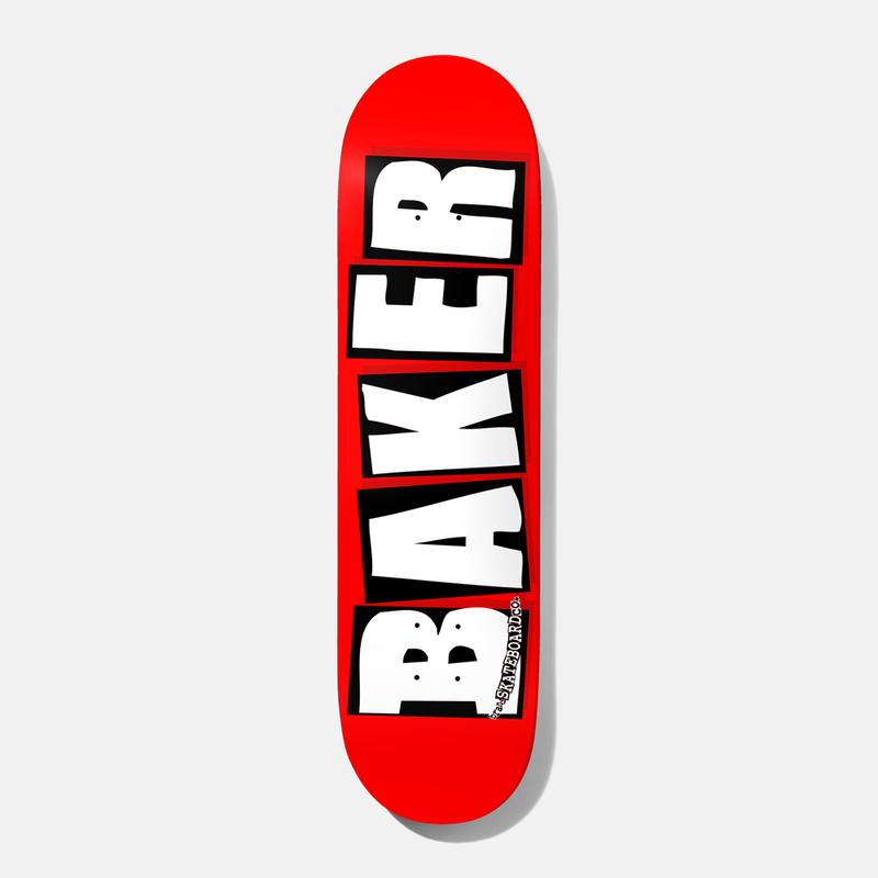 Дека для скейтборда BAKER Brand Logo Deck White 8 дюйм