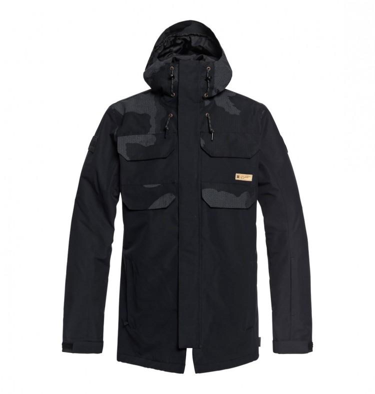 Купить Куртка для сноуборда мужская DC SHOES Haven Jkt M Black Dcu Reflective Camo Men, Китай