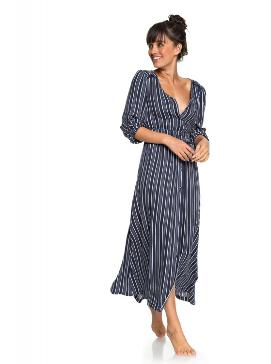 Платье ROXY Subway Atmosph J Dress Blues Vertical Stripes, фото 1