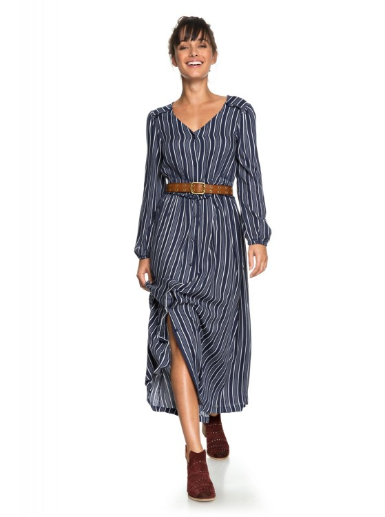 Платье ROXY Subway Atmosph J Dress Blues Vertical Stripes, фото 2