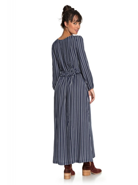 Платье ROXY Subway Atmosph J Dress Blues Vertical Stripes, фото 3
