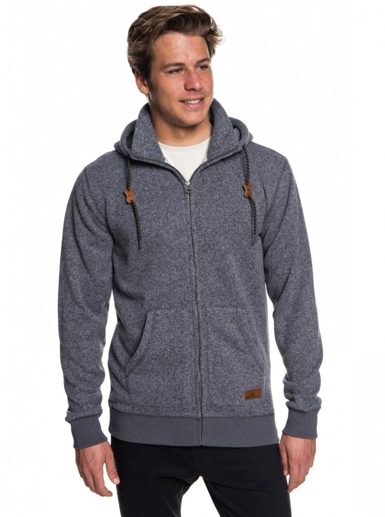 Купить Кардиган QUIKSILVER Kellerzip M Dark Grey Heather, Китай
