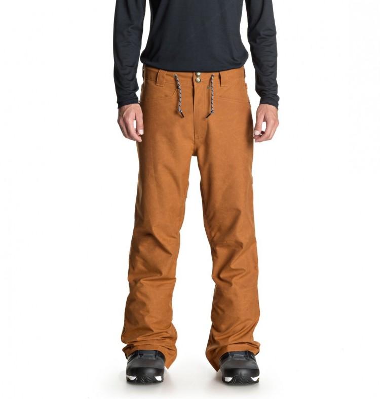 Купить Штаны для сноуборда мужские DC SHOES Relay Pnt M Waxed Leather Brown, Китай