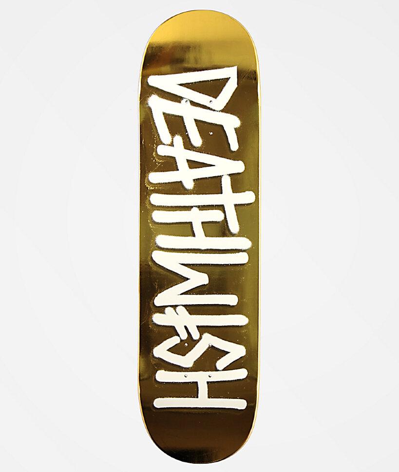 Дека для скейтборда DEATHWISH Deathspray Deck Gold White 8.25 дюйм