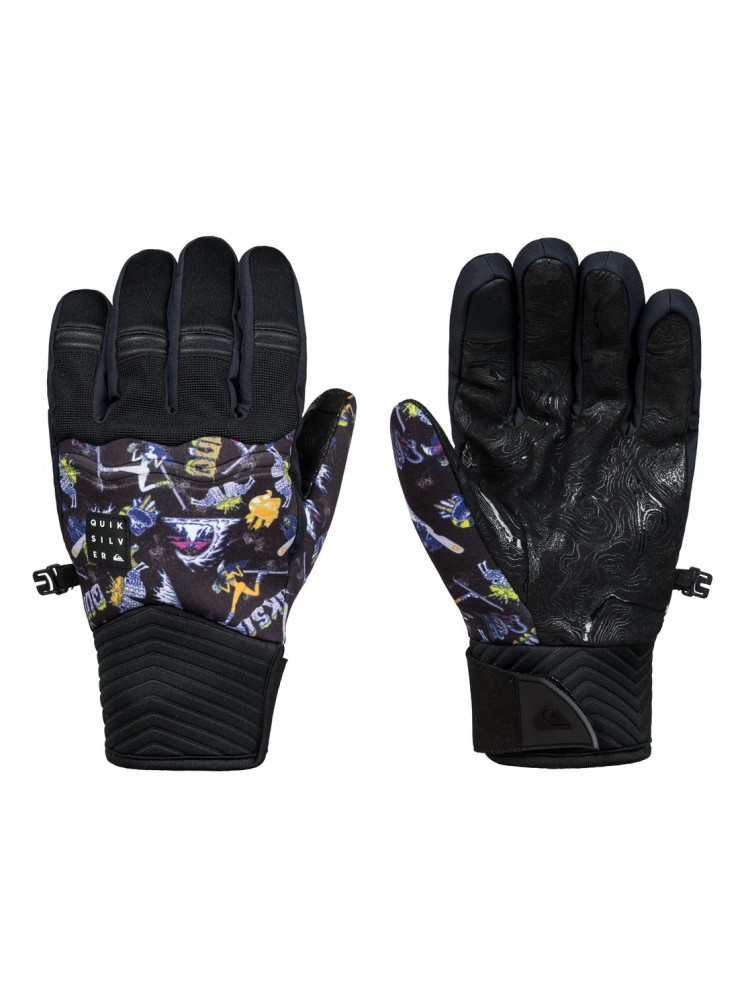 Купить Перчатки QUIKSILVER Method Glove M Black_A Day At The Mountain Gl, Китай