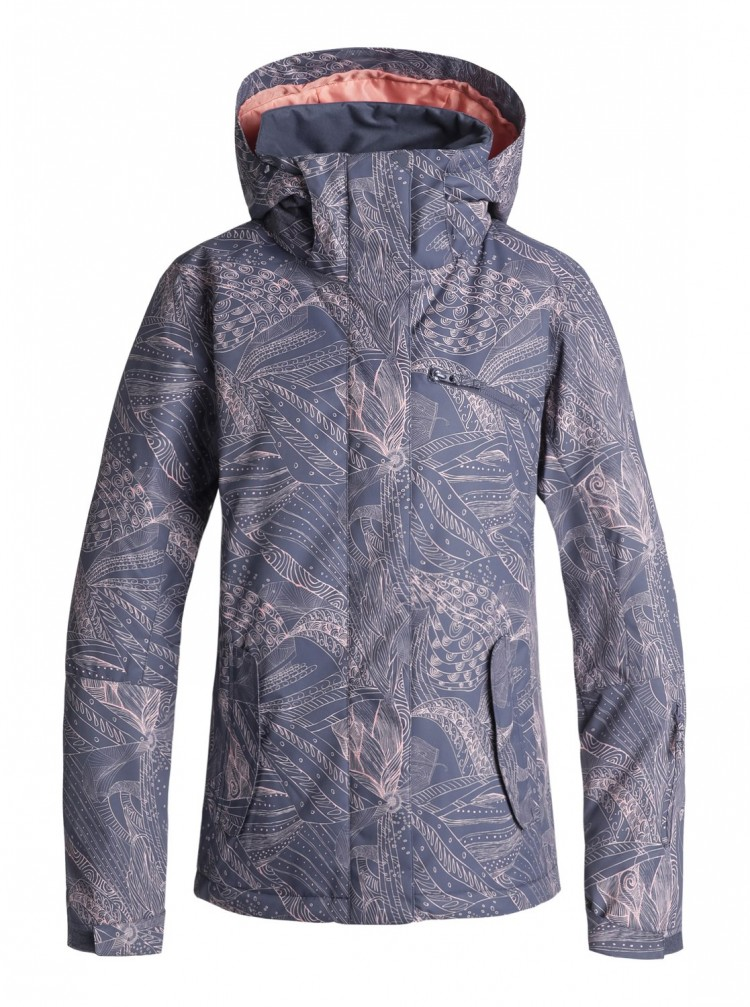 Купить Куртка для сноуборда женская ROXY Roxy Jetty Jk J Crown Blue_Queen Motif, Китай
