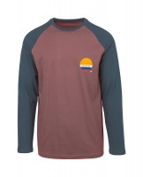 Лонгслив RIP CURL Shore Lines Ls Tee Light Red