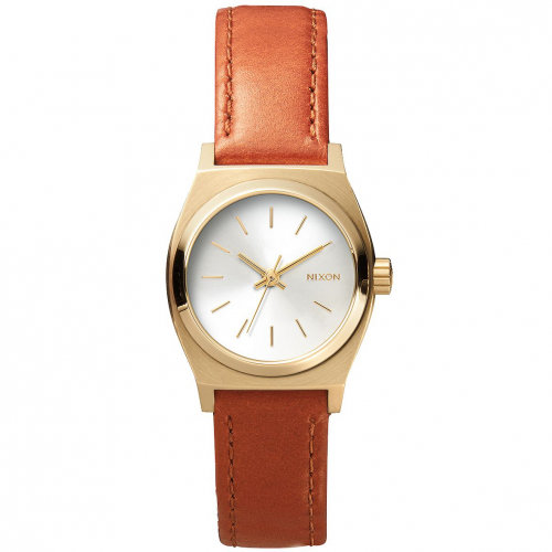 Купить Часы NIXON Small Time Teller Leather A/S Light Gold/Saddle, Китай