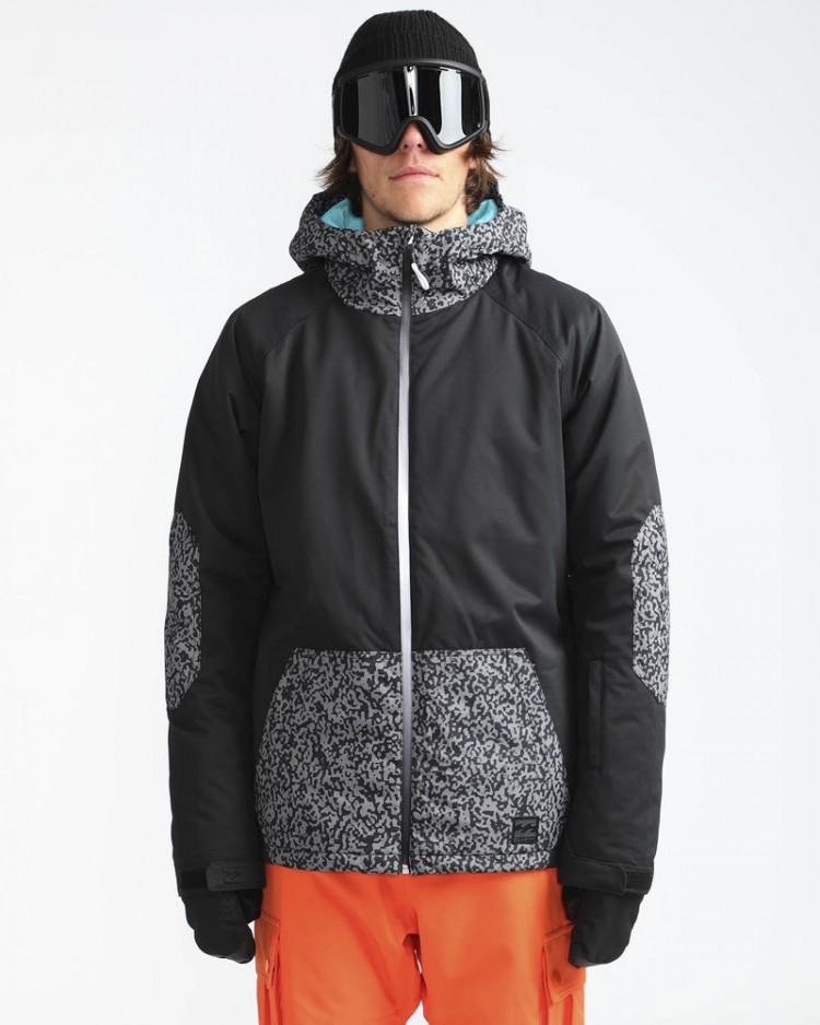 Куртка сноубордическая мужская BILLABONG All Day Grey, Китай  - купить со скидкой