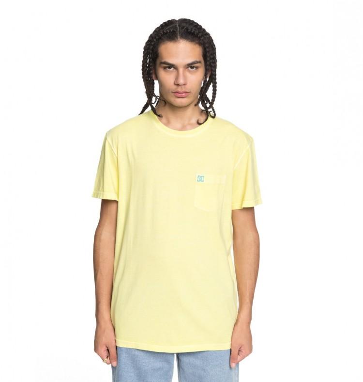 Купить Футболка мужская DC SHOES Dyed Pocket Cre M Lemon Meringue, Индия