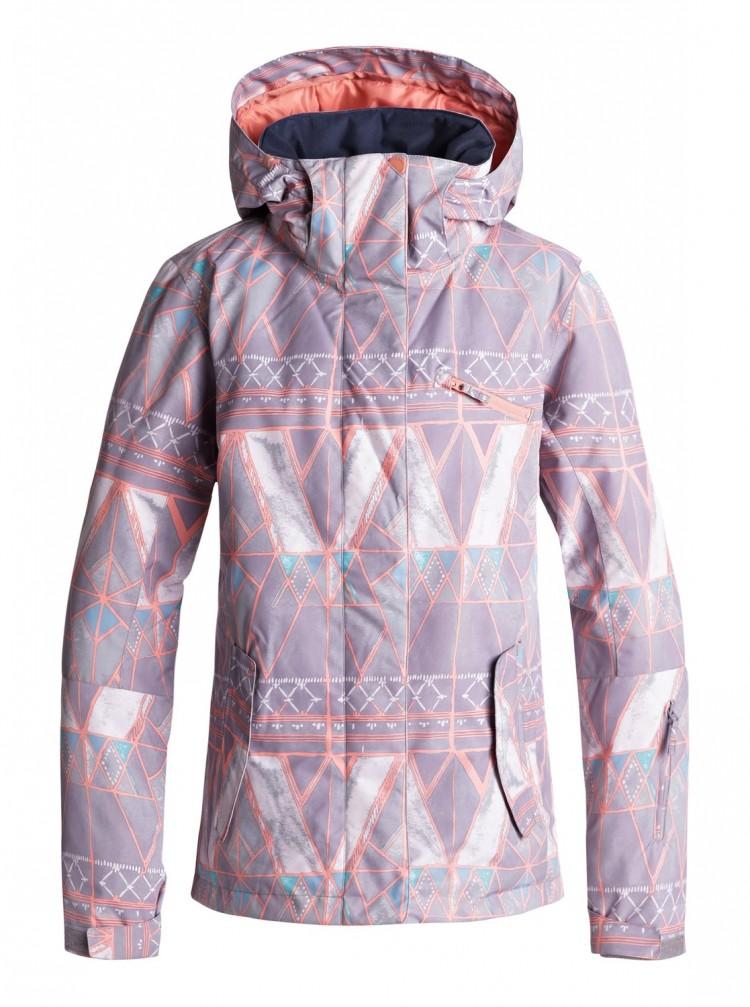 Купить Куртка для сноуборда женская ROXY Roxy Jetty Jk J Minimal Grey_Mosaic, Китай