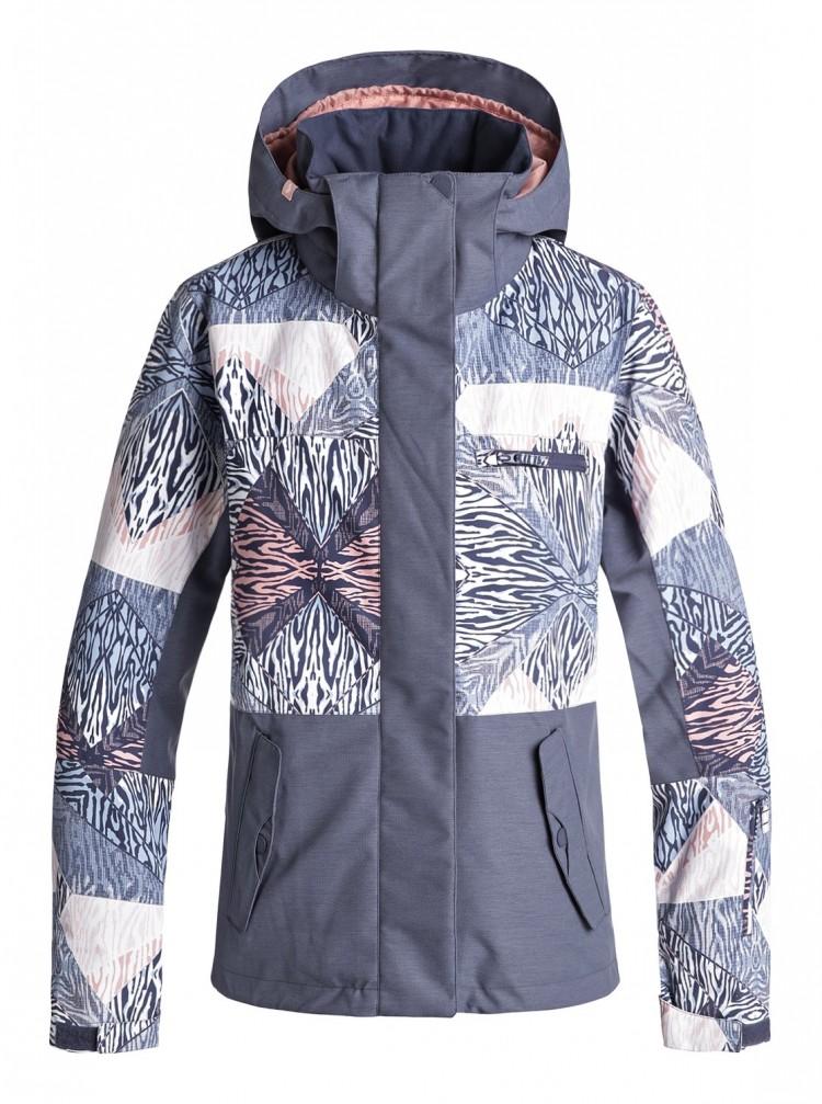 Купить Куртка для сноуборда женская ROXY Rx Jetty Block J Powder Blue_Animal Geo, Китай