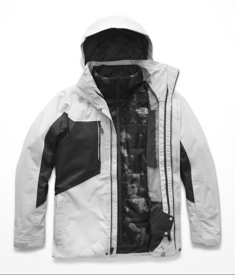 Купить Куртка для сноуборда мужская THE NORTH FACE M Clement Triclimate Jacket High Rise Greay/Asphalt Urban, Китай