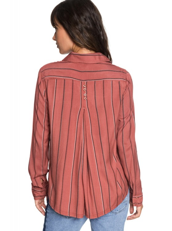 Блузка ROXY Concretestreets J Whitered Rose Poetic Stripe Ve, фото 4