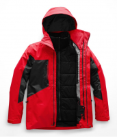 Куртка для сноуборда мужская THE NORTH FACE M Clement Triclimate Jacket Fiery Red/TNF BLACK