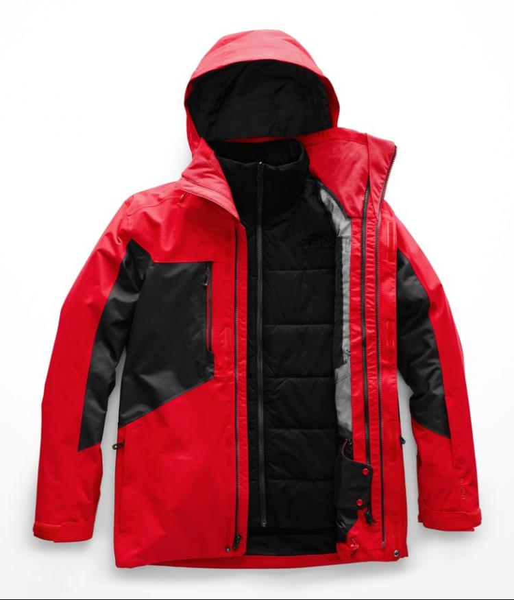 Купить Куртка для сноуборда мужская THE NORTH FACE M Clement Triclimate Jacket Fiery Red/TNF BLACK, Китай