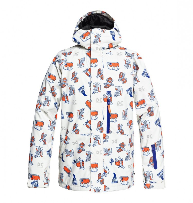 Купить Куртка сноубордическая DC SHOES Ripley Jkt M Silver Birch Pbj Graphic, Китай