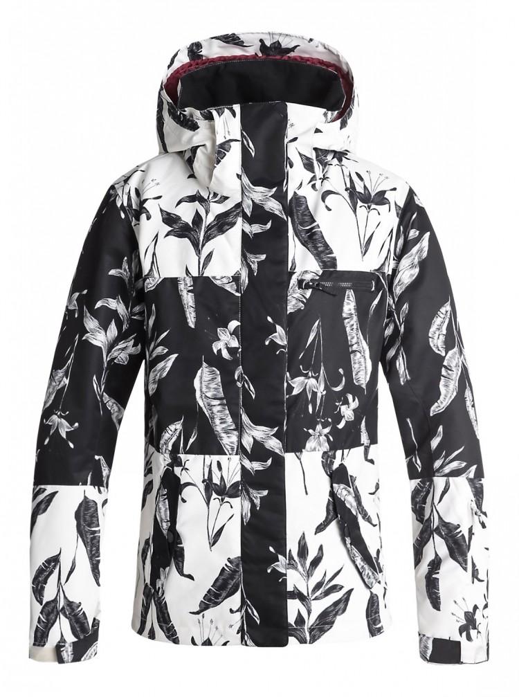 Купить Куртка для сноуборда женская ROXY Rx Jetty Block J True Black_Love Letter, Китай
