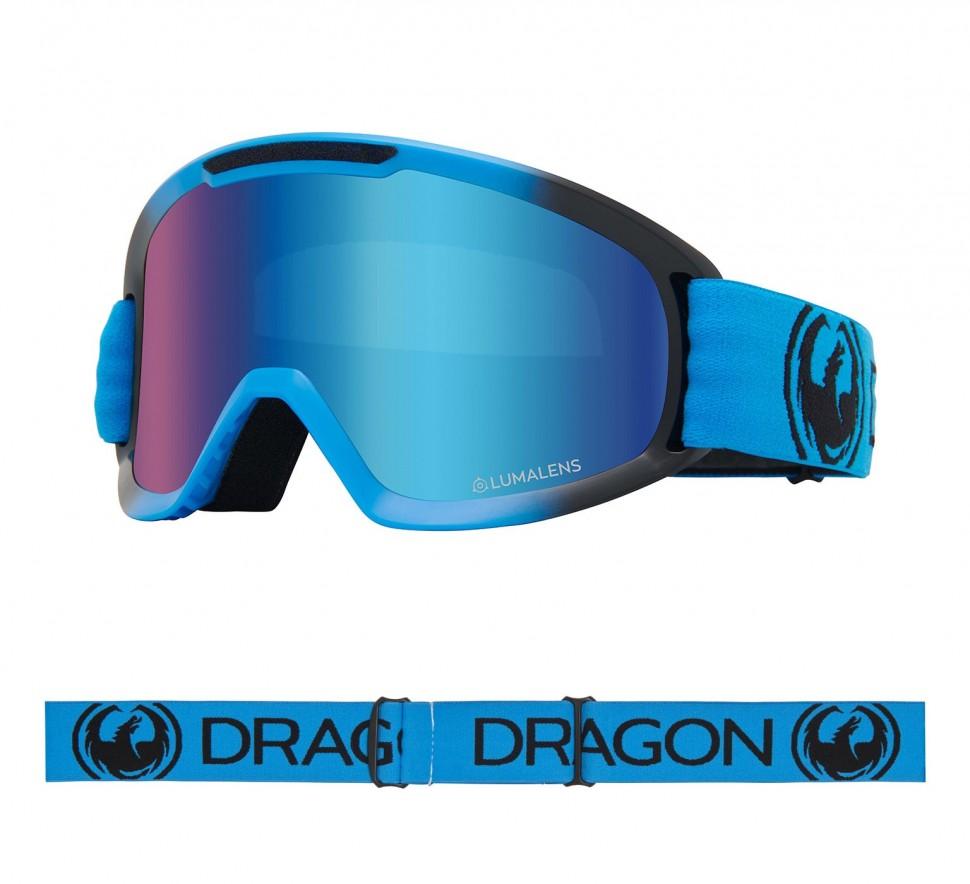 Маска горнолыжная DRAGON Dx2 Blueberry/Ll Blue Ion + Ll Amber фото
