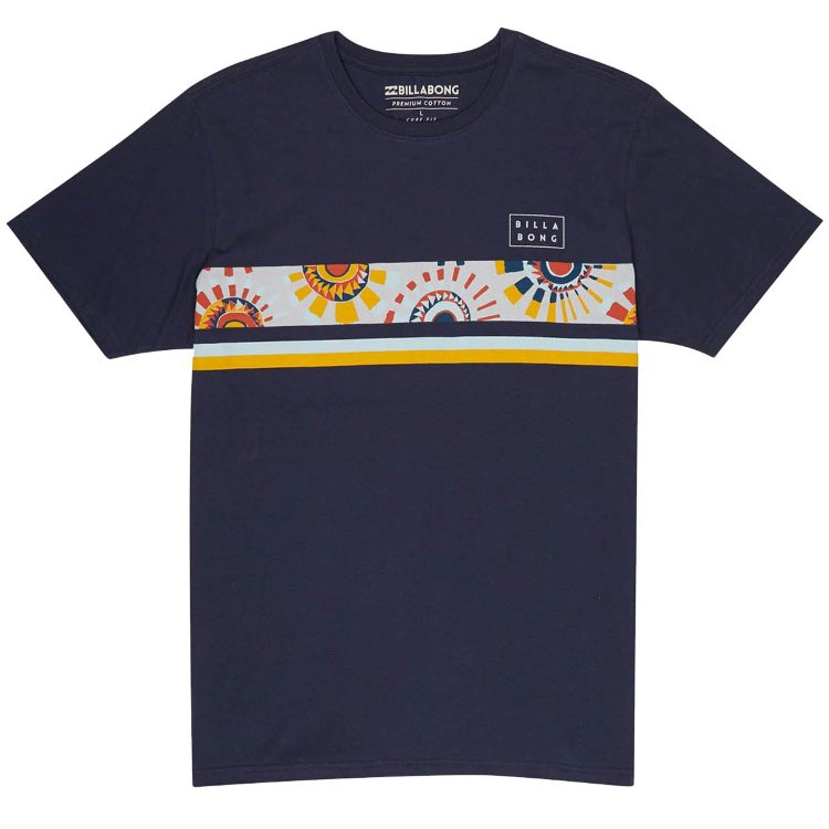 Купить Футболка BILLABONG Team Stripe Tee Ss SS18 Navy