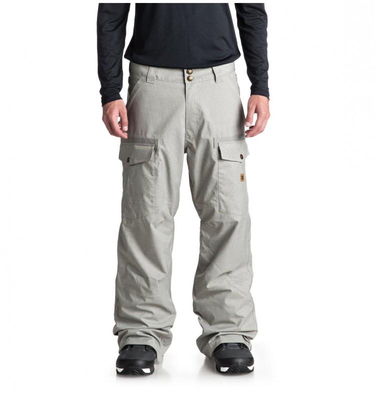 Купить Штаны для сноуборда мужские DC SHOES Code Pnt M Neutral Gray, Китай