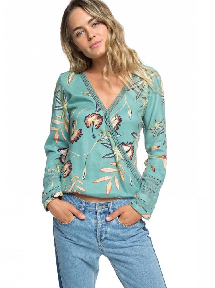 Блузка ROXY Runaway Success J Trellis Bird Flower, Индия  - купить со скидкой
