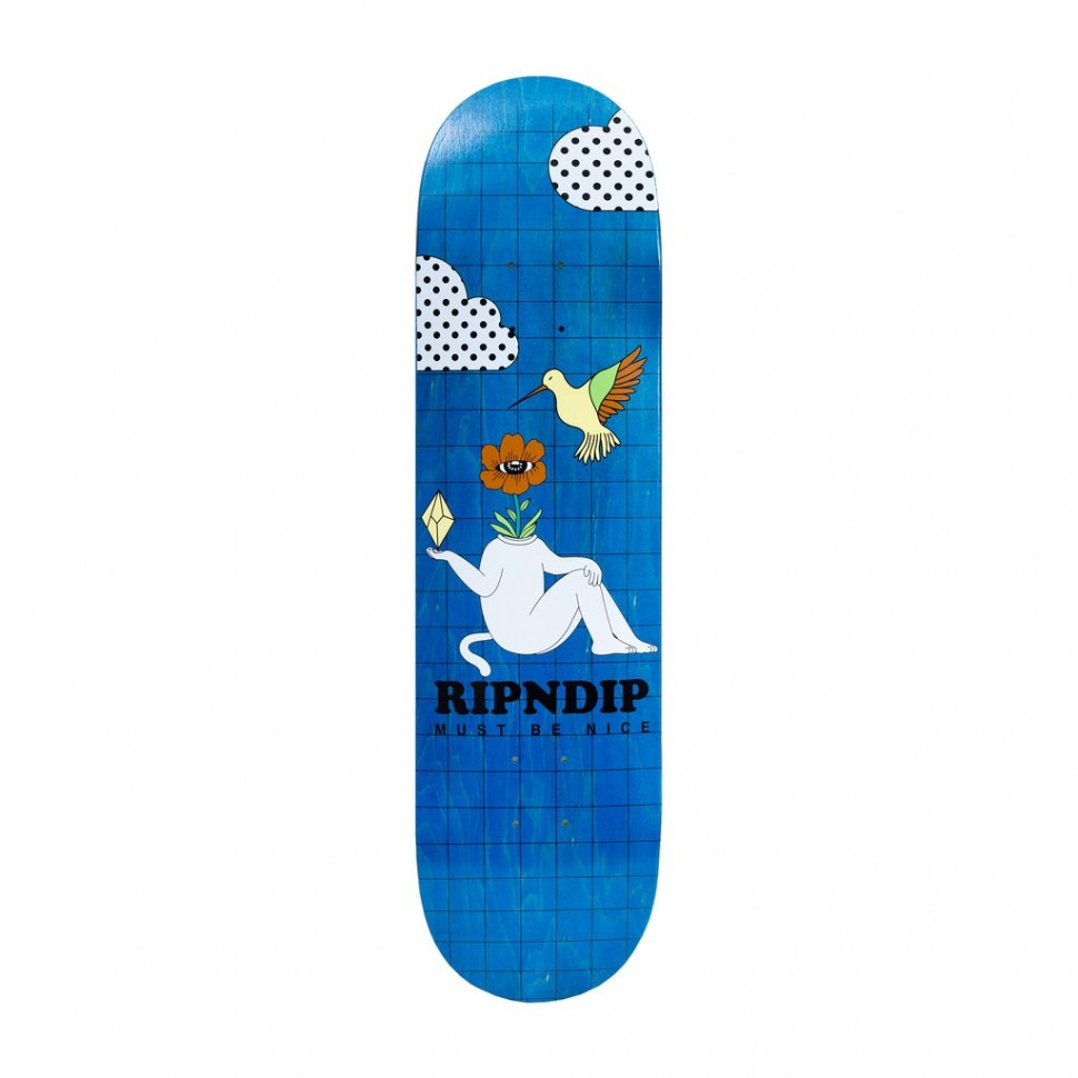 Дека для скейтборда RIPNDIP Window Daze Board Aqua 8 дюймов 2021