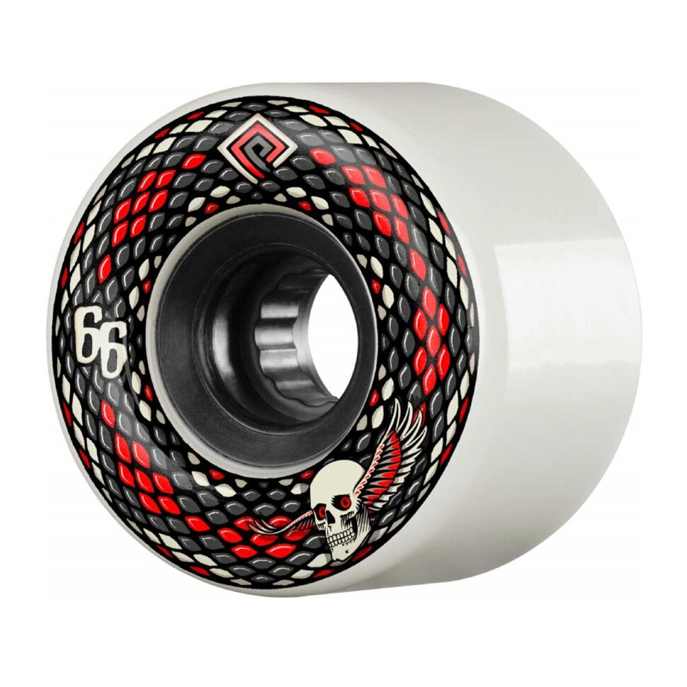 Колеса для скейтборда для cкейтборда POWELL PERALTA Snakes White 66 мм 2020 фото