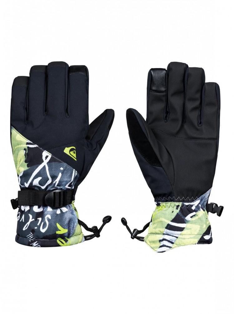 Купить Перчатки QUIKSILVER Mission Glove M Black_Construct, Вьетнам