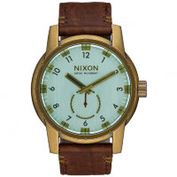 Часы NIXON Patriot Leather A/S Brass/Green Crystal/Brown