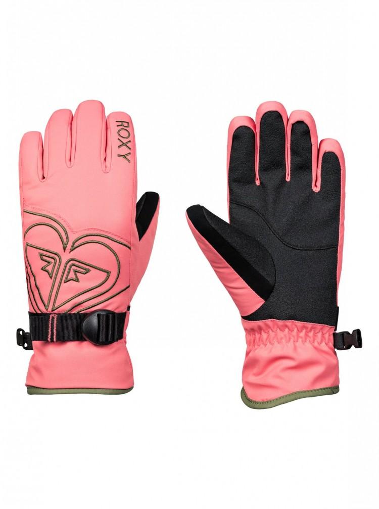Купить Перчатки для сноуборда женские ROXY Poppy Girl Glov G Shell Pink, Вьетнам