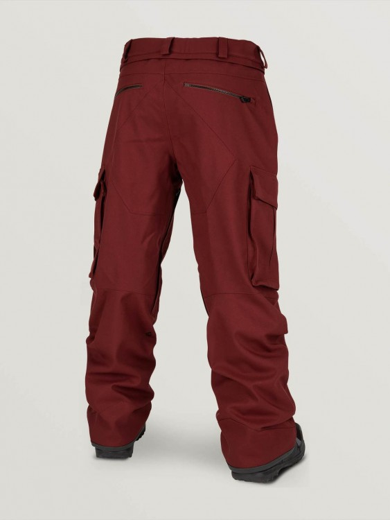 Штаны для сноуборда мужские VOLCOM V.Co Twenty One Pant Burnt Red, фото 2