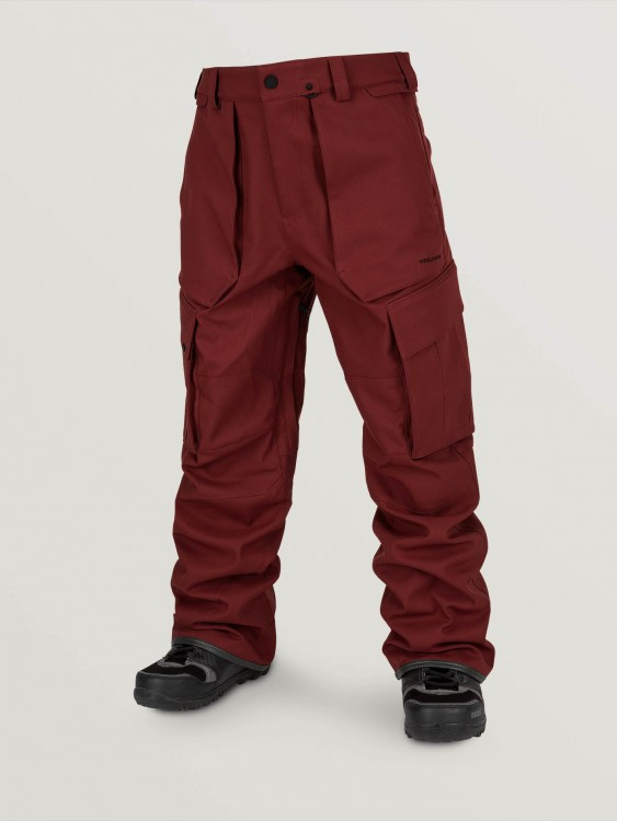 Штаны для сноуборда мужские VOLCOM V.Co Twenty One Pant Burnt Red, фото 1