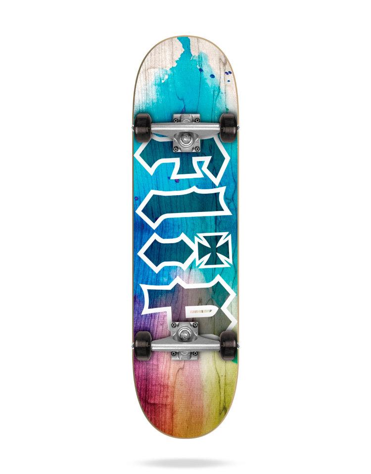 Купить Комплект Скейтборд FLIP Hkd Complete TIE DYE BLUE 7,25 , Испания