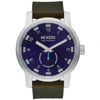 Часы NIXON Patriot Leather A/S Purple/Olive