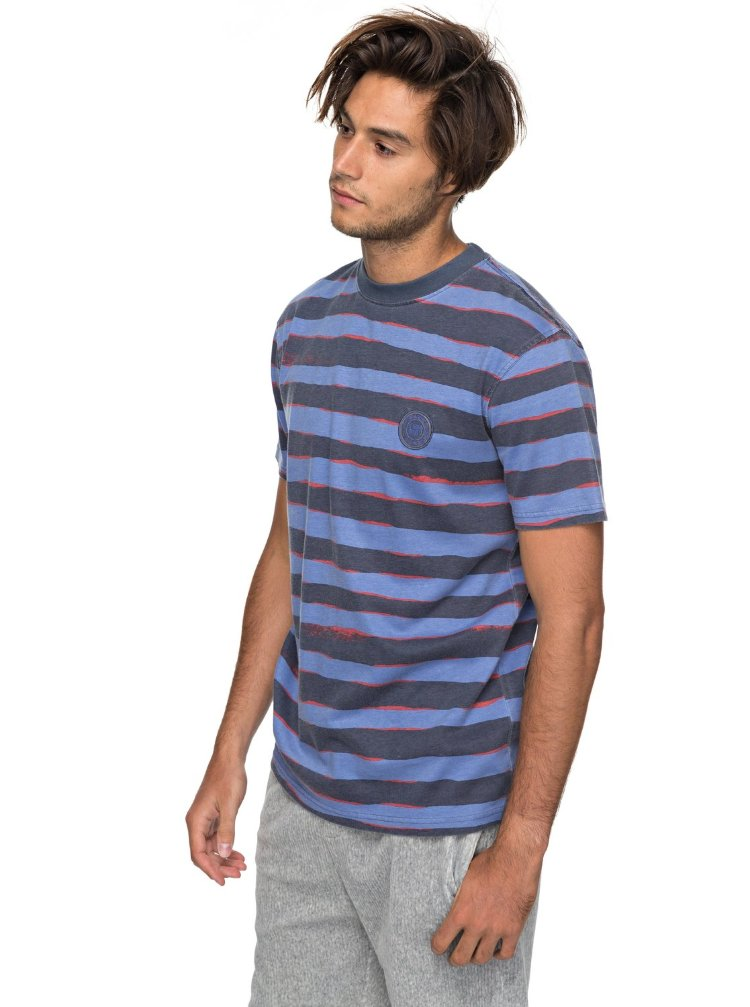 Купить Футболка мужская QUIKSILVER Ssallprintmadwa M Vintage Indigo Mad Wax Stripes, Индия