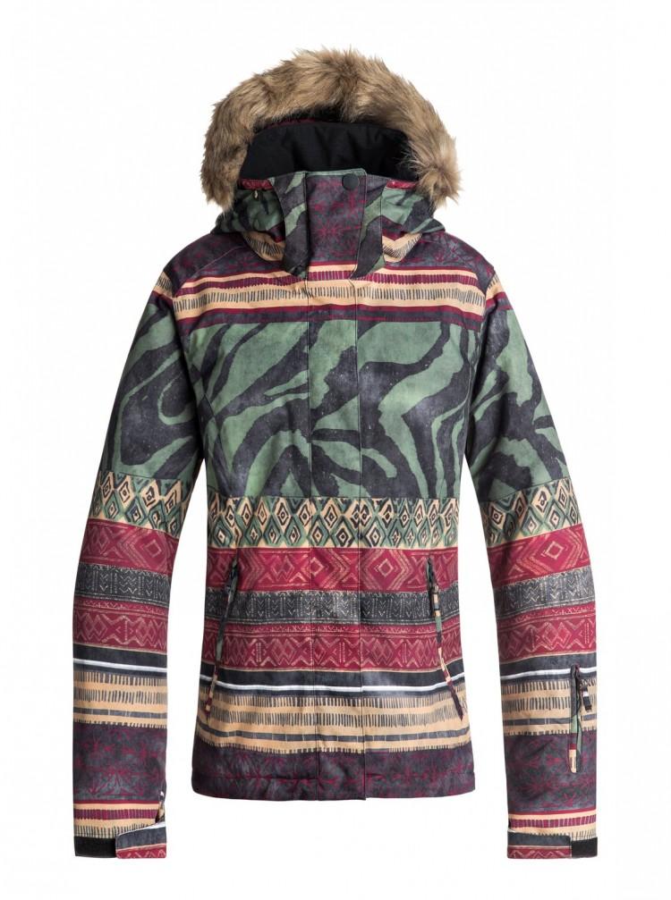 Купить Куртка для сноуборда женская ROXY Jet Ski Se Jk J True Black_Wild Ethnic, Мьянма