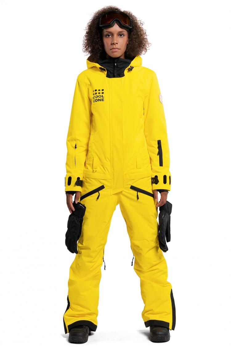Купить Комбинезон женский COOL ZONE Twin One Color Желтый/Черный, Россия