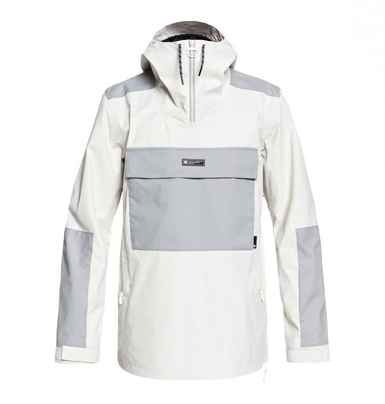 Куртка-анорак для сноуборда мужская DC SHOES Rampart Jkt M Silver Birch ef322f78504