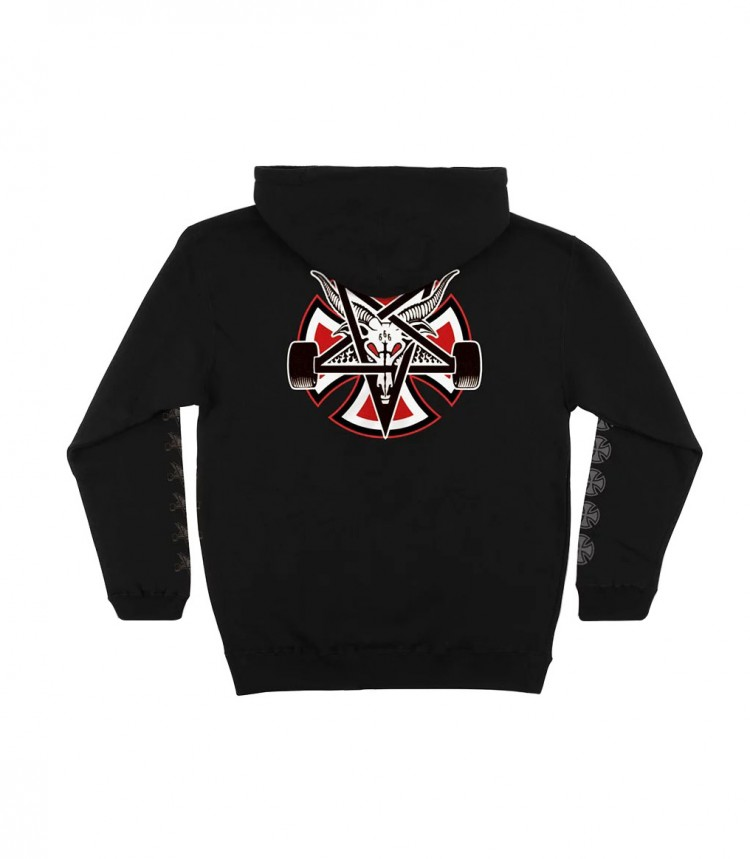 Купить Худи мужское Independent x Thrasher Pentagram Cross Pullover Hooded Black, Китай