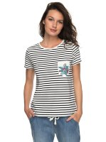 Футболка женская ROXY Bahamas Cott A J Anthracite Basic Bico Stripes