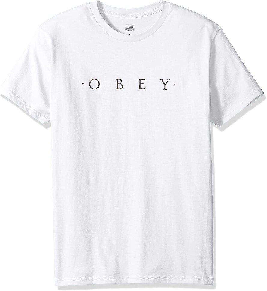 Футболка OBEY Novel Obey White 2020